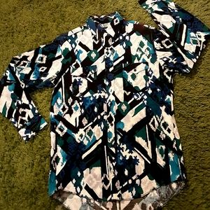 Men's 1980's psychedelic Wrangler shirt